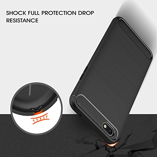 Xiaomi Mi A1 case,with Xiaomi Mi A1 screen protector. MYLB (2 in 1)[Scratch Resistant Anti-fall] fashion Soft TPU Shockproof Case with Xiaomi Mi A1 glass screen protector (Black) by MYLB (Image #2)