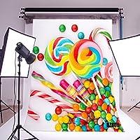 LB 5x7ft Candy Vinyl Photography Backdrop Customized Photo Background Studio Prop DZ800