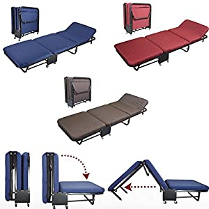 Folding Rollaway Guest Bed Heavy Duty Steel Frame with Cover