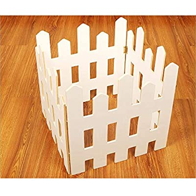Honfill Free-Standing Wooden Fence Indoor Outdoor Protective Guard Length 47.2 Inches Wedding Party Decoration for Christmas Xmas Tree Home Garden Yard Office Decoration Baby Safety Gift Storage