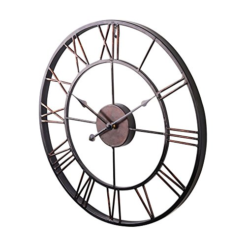 Shuangklei New Extra Large Vintage Style Statement Metal Wall Clock Country Style For Sale