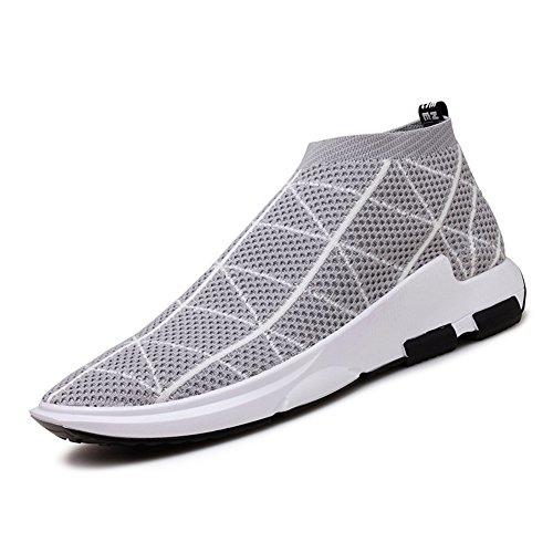Sportive Outdoor Tennis Sneakers corsa Scarpe Madaleno Basse Uomo Chiaro Grigio Corsa Respirabile Running all'aperto da Ginnastica xPv7wfvqzn