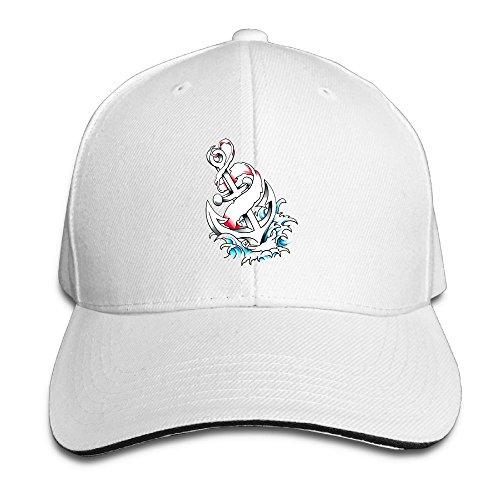 Anchor Chain Cap White (Anchor Watercolor Adjustable Hip-Hop Baseball Hat Dad Cap Unisex Hipster Four Seasons)