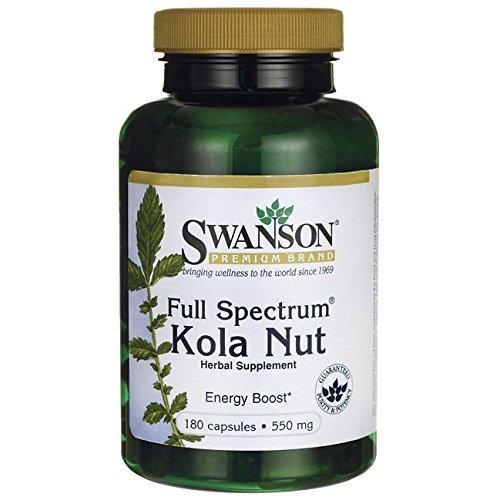 Swanson Full Spectrum Kola Nut 550 Milligrams 180 Capsules