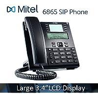 Mitel 6865 6865i VoIP Phone 3.4 128x48 pixel LCD Display HD Audio SIP Office IP PoE Phone 80C00001AAA-A