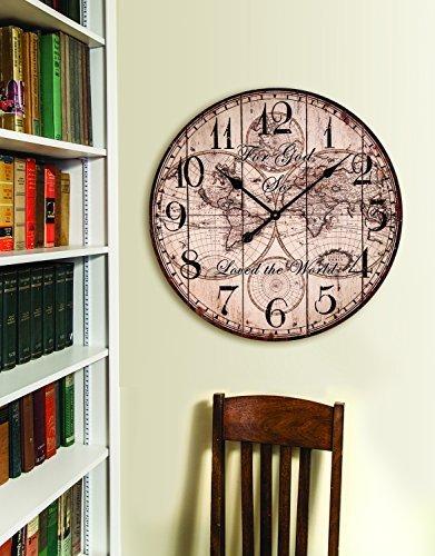 God Wall Clock - MW For God So Loved The World Wall Clock 23.5X23.5X1.75