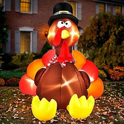 Airblown Thanksgiving Inflatable - Gemmy Airblown Inflatable Original Turkey - Indoor Outdoor Holiday Decoration, 6-foot Tall