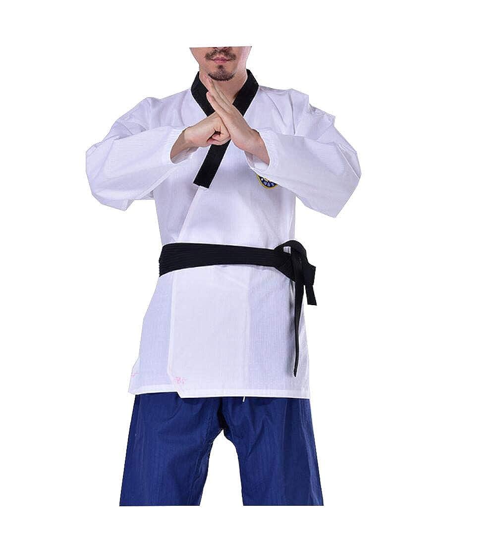 Male XXL Taekwondo vêteHommests Enfants Coton à Manches Longues Adultes vêteHommests pour Hommes et Femmes Tenues de Formation GI