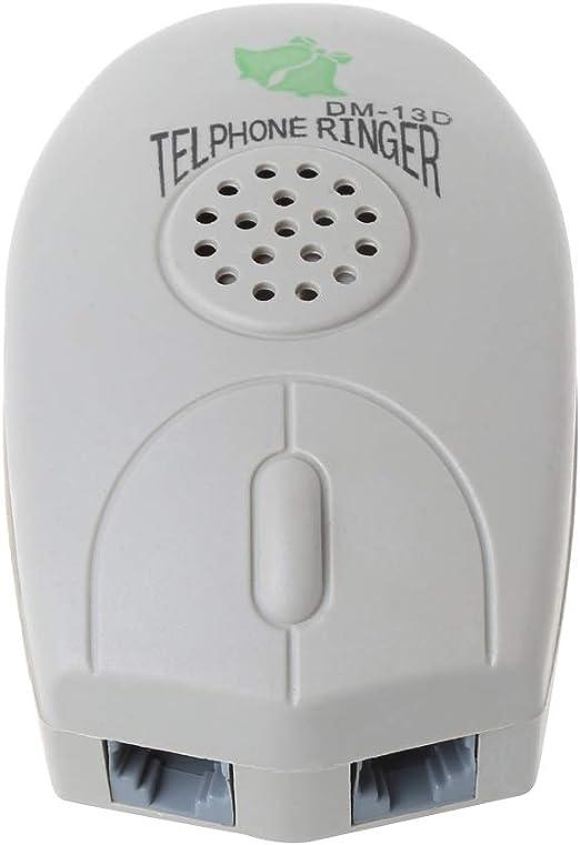 smallJUN Amplificador Tel/éfono Fijo Timbre de Campana Timbre de tel/éfono Extra Fuerte para el Viejo tel/éfono Timbre Campana Beige