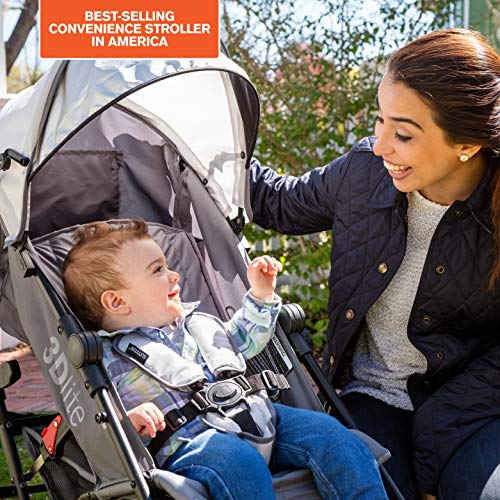 51GVSwYOnOL - Summer 3Dlite Convenience Stroller, Gray – Lightweight Stroller With Aluminum Frame, Large Seat Area, 4 Position Recline, Extra Large Storage Basket – Infant Stroller For Travel And More