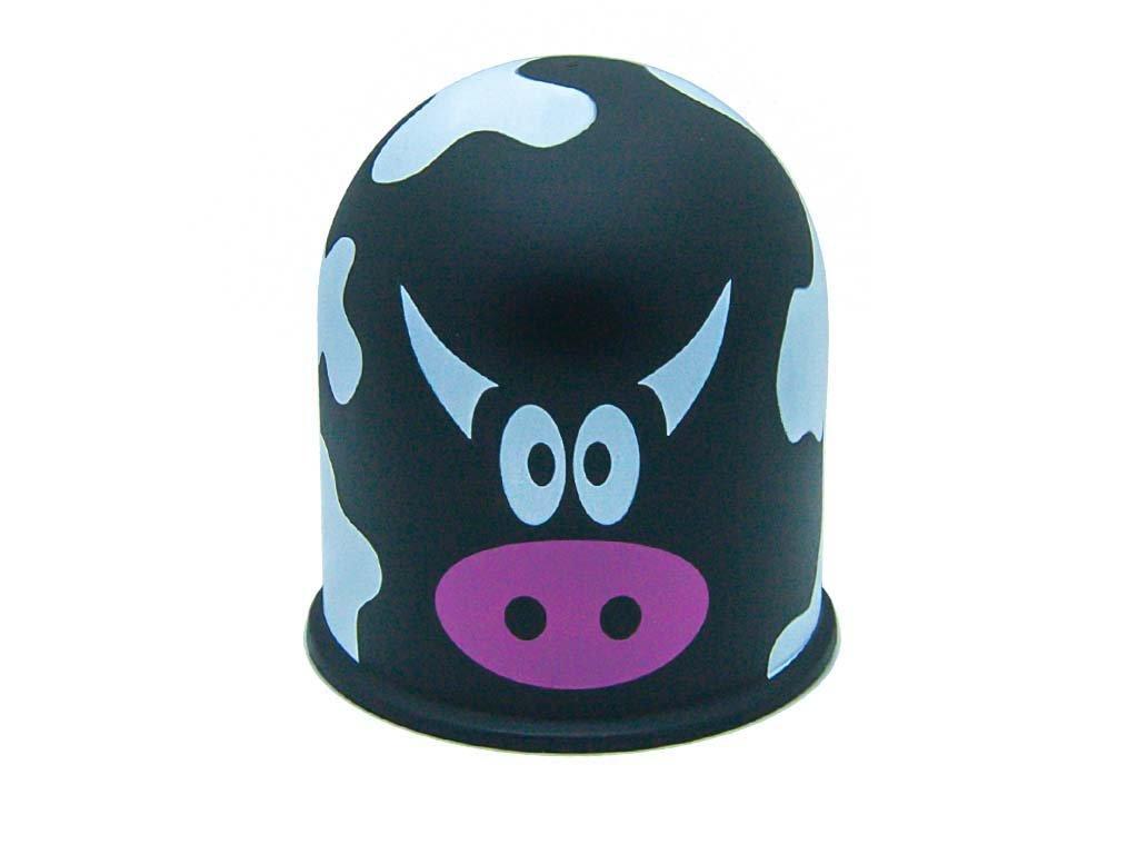 Schutzkappe Anhä ngerkupplung AHZV Kuhflecken Kuhmuster Kuhfell Kuh Cow schwarz The Coupling Caps