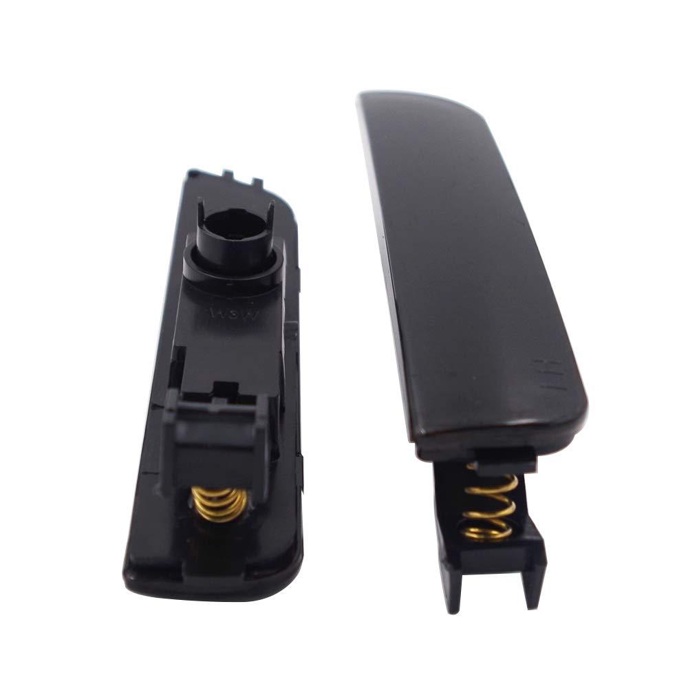 GSRECY Pair for Passat B5.5 2001-2005 Front Bumper Side Marker Lights Housing Reflector Amber Lens