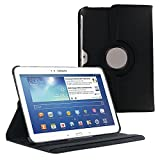 "360 Degree Rotating Case Cover w/ Stand for Samsung Galaxy Tab 4 10.1"" (Black)"