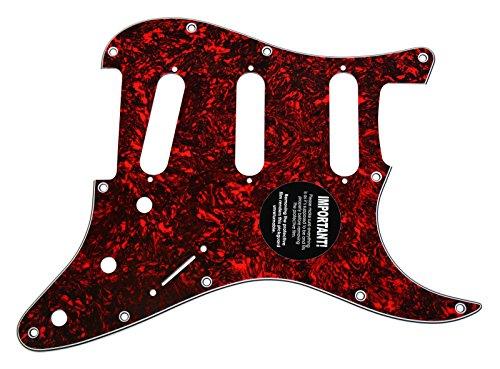 (920D CS Red Lava 3 Ply Pickguard for Fender Stratocaster Strat CNC Presicion Cut)