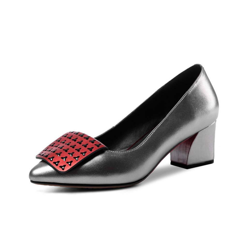 Ai Ya-liangxie Mode Große Große Große Größe 34-43 M² Aus Echtem Leder Heels Schuhe Frau Pumpen Slip Auf Ins Pumpen Frau Schuhe 587a7f