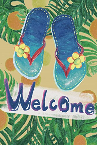 "Dtzzou Summer Welcome Garden Flag 12"" x 18"" - Flip Flop Hous"