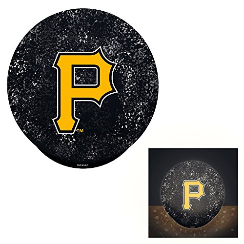 Pittsburgh Pirates Lamp (Team Sports America Pittsburgh Pirates LED Glass Disk Indoor)
