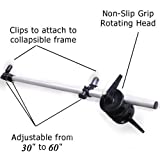 CowboyStudio Photography Video Studio 5-Feet Extendable Reflector Holder Arm with Dual Head Clamp, H2258