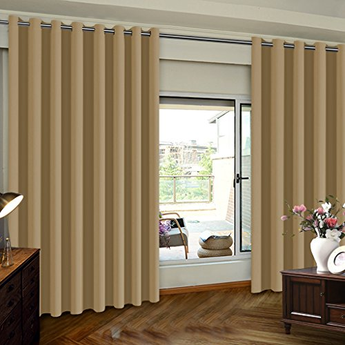 TURQUOIZE Extra Wide Room Divider Grommet Top Curtain Panel, Patio Door  Curtain, Latte, 8.3ft Wide X 7ft Tall (100inch W X 84inch L), Sold By Panel