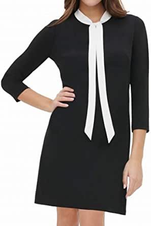 Tommy Hilfiger Womens Women's Neck Tie A-line Dress