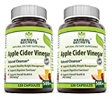 Herbal Secrets Apple Cider Vinegar 500mg 120 Capsules, 2 Pack