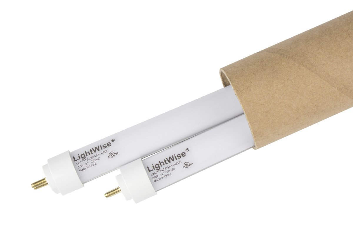 2 Pack of LightWise LWL4W40-F8T5 White LED 12'' 4W Tubes with 4000K for T5 8W Fluorescent Tube in your under cabinet lights to get Energy Saving! Replace Directly