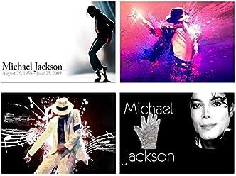 4 Placemats plastic Michael Jackson
