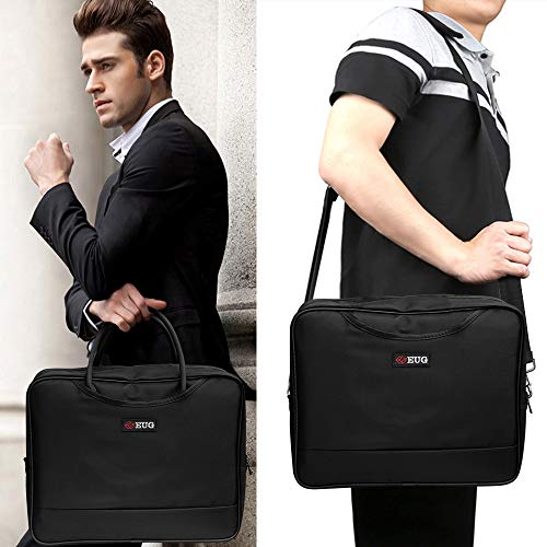 Universal Projector Carrying Case Soft Laptop Travel Shoulder Bag with Detachable Shoulder Strap - 14x12x5 inch - for Optoma HD142X, ViewSonic PJD7828HDL, Epson EX3240 and More Small Travel Projectors by WIKISH (Image #1)