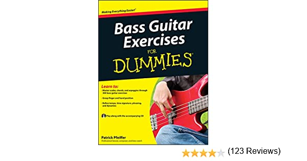 Pfeiffer, P: Bass Guitar Exercises For Dummies: Amazon.es ...