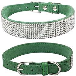 Hpapadks Diamond Dog Collar Rhinestone,Bling Dog Collar Sparkly Rhinestone Studded Small Medium Dog Collar Pet Supplies Dog