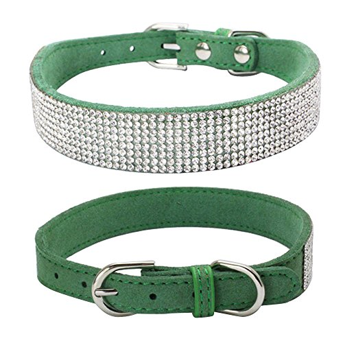 Hpapadks Diamond Dog Collar Rhinestone,Bling Dog Collar for sale  Delivered anywhere in USA