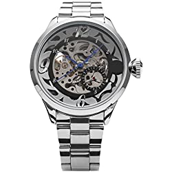 SHENHUA Men's Everyday Casual Wrist Watch Color Silver