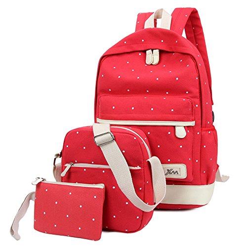 軽量学校バックパックキャンバスカジュアル旅行バックパックレディースショルダーバッグ