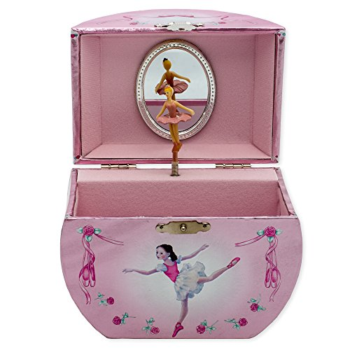 Silver & Pink Dancing Ballerina Handbag Music Musical Jewelry Box