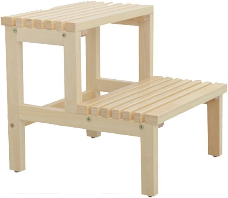GBX Sgabello a Gradino Portatile per Uso Domestico Sgabello in Legno Massello per Bambini Scarpe a Cambio Basso S Tavolino da Salotto Divano Quadrato Pigro,36 /× 36 /× 17 Centimetri