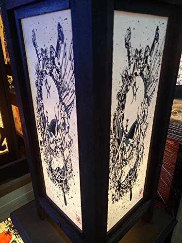 Assassin Costume Dishonored (Decorative Lamp Thai Vintage Handmade Asian Oriental Fantasy dual swords Skull Bedside Table Light Floor Wood Paper Lamp Shades Home Bedroom Garden Decoration Modern Design By High-Season)