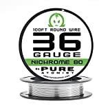 Pure Atomist Nichrome 80 36 Gauge AWG Round Wire Roll 0.127mm 36g Spool N80