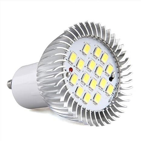 Bombilla Lámpara GU10 16 LED 5630 SMD Foco Luz Blanco AC 220V-240V 580LM 5.5W: Amazon.es: Hogar