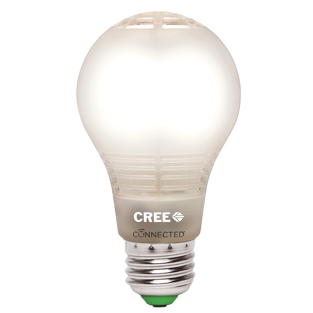 Cree BA19-08027OMF-12CE26-1C100 Connected 60W Equivalent Soft White (2700K) A19 Dimmable LED Light Bulb, Works with Alexa