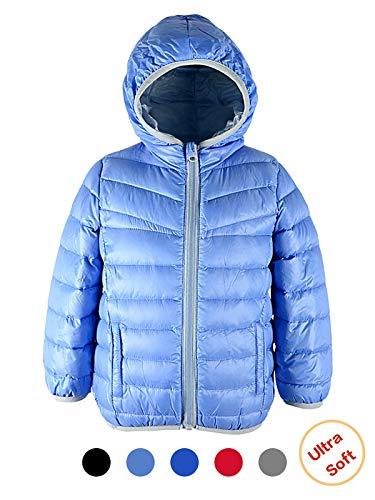 Girls Light Blue Jacket - Century Star Packable Down Coat Light Weight Windproof Outwear Colorful Children Warm Puffer Jacket Light Blue 4-5T/Label 130