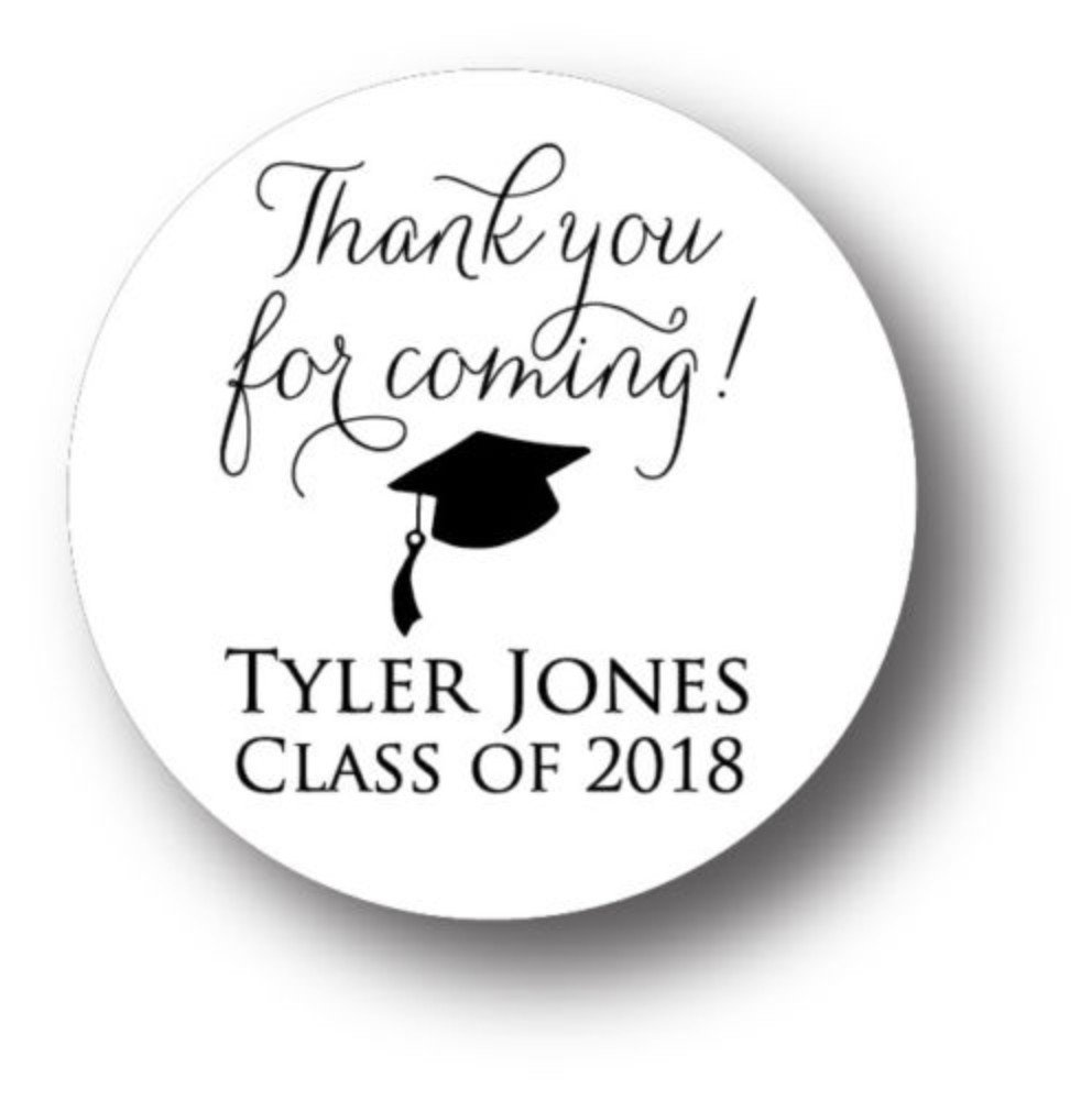 Thank you for coming! 2018 Graduation Personalized Party Favor Sticker
