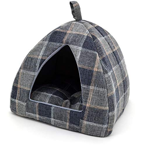 - Best Pet Supplies Plaid Linen Pet beds