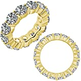 1.75 Carat G-H Diamond Engagement Wedding Anniversary Full Eternity Band Ring 14K White And Yellow Gold