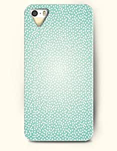 SevenArc Phone Skin Apple iPhone case for iPhone 5 5s ( 5C EXCLUDED ) -- White Dots in Aquamarine Background