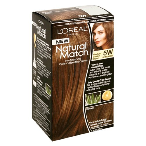 L ' Oreal Natural del fósforo No amoníaco calibrado de Color Crema, marrón dorado, 5W cálido