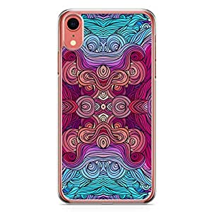 Loud Universe Case For iPhone XR Transparent Edge Mirror Effect Pattern iPhone XR Cover
