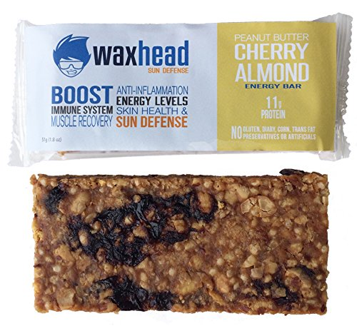 Waxhead Sun Defense Energy Bars (Peanut Butter Cherry Almond)