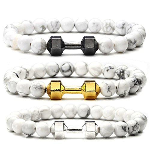 JOVIVI Turquoise Dumbbell Stretchable Bracelet