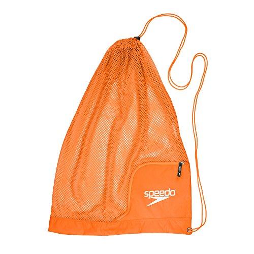 Speedo Ventilator Mesh Equipment Bag, Bright Marigold