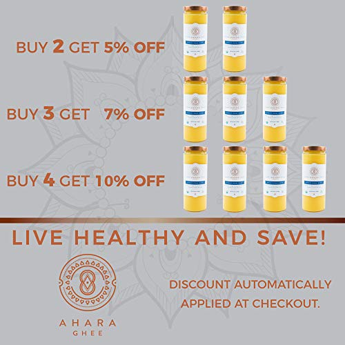 Ahara Rasa Organic Traditional Ghee 33oz, 100% Pure Grass Fed by Ahara Rasa (Image #4)